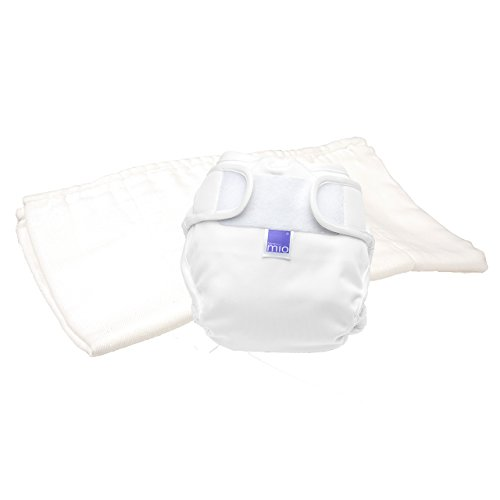 Bambino Mio, mioduo pañal reutilizable de dos piezas, blanco, talla 1 (<9 kg)