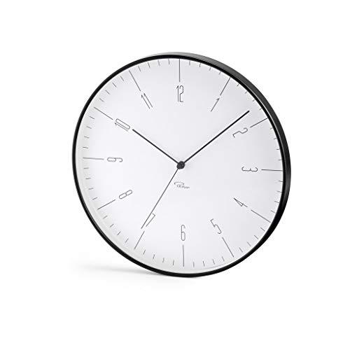 Philippi Cara Wanduhr, schwarz ABS, Glas, Uhrwerk m. schleichender Sek, 30 (d) cm