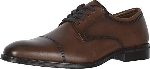 Dockers Mens Pierdon Leather Dress Cap Toe Oxford Shoe, Cinnamon, 8.5 M