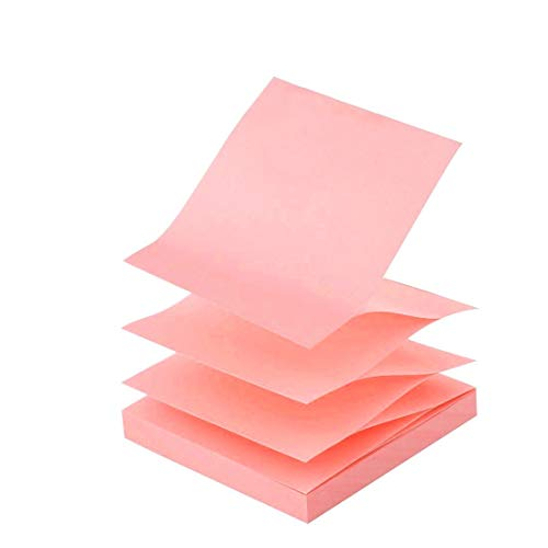 D.RECT Haftnotizen Zig-Zag Z-Notes 76x76mm 100 Blatt Rosa, 9255
