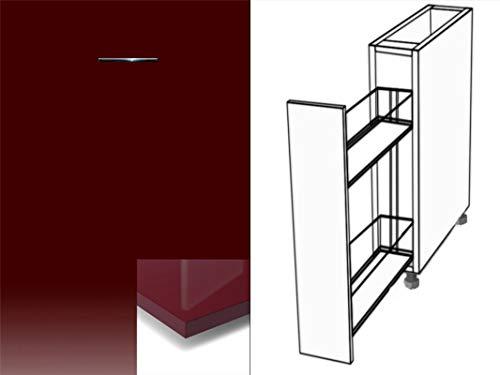 Premium-Ambiente ATUVWRHRPA08 Unterschrank Apothekerschrank Vollauszug Softclosing Hochglanz (Breite 30cm, 88 Prugna)