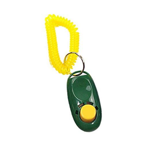 LjzlSxMF Dog Whistle Deje De Ladrar con Ajustable De Alta Frecuencia Y Tono De Clicker Loud para La Formación De Plástico Verde