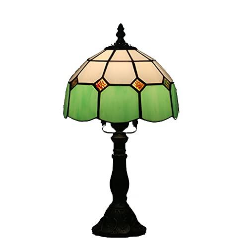 GAUUA Lámpara de Mesa mediterránea Tiffany Style Desk Light Hecho a Mano de Vidrio de Manchas de la Sala de Estar de la Sala de Estar Habitación para niños o Dormitorio Universitario,Amarillo