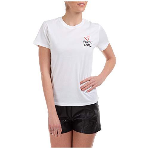 Karl Lagerfeld Damen T-Shirt Forever Karl Bianco M
