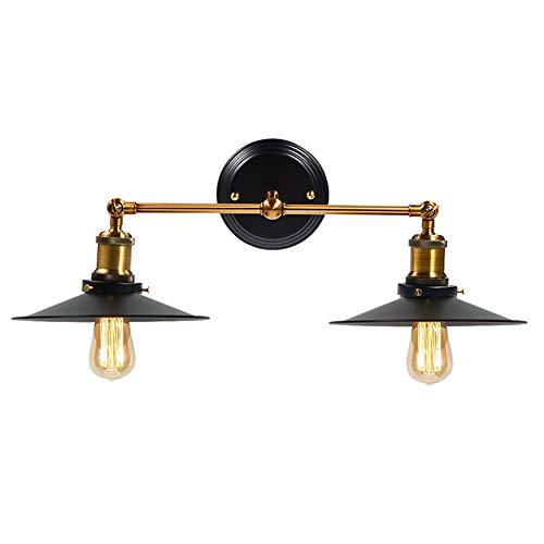 Lámpara de Pared, Apliques de Pared Bañadores de Pared Lámpara Vintage 40W Luz Industrial Estilo Retro Casquillo E27 La...