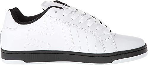 Etnies Men's Fader 2 Skate Shoe, White/Black, 12 Medium US