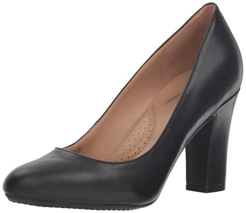 Aerosoles Women's Octagon Pump, black leather, 9.5 M US