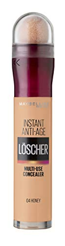 Maybelline New York Abdeckstift, Instant Anti-Age Effekt Concealer, Löscher mit Mikro-Lösch-Applikator, Nr. 04 Honey, 6,8 ml