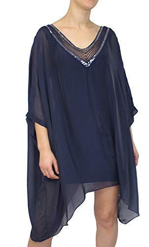 Mimosa dames gemaakt in Italië zijde chiffon vleermuis blouse tuniek spagetti top broek een maat met geschenkzak
