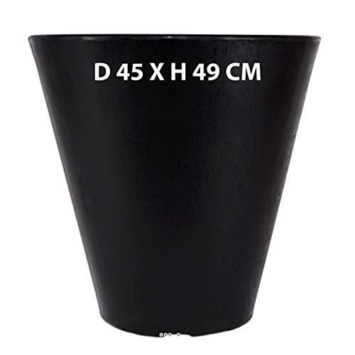 Artificielles.com - Bac INES Noir D 45 X H 49 CM extérieur Top qualité Rotomoule - dimhaut: H 49 cm - Couleur: Noir