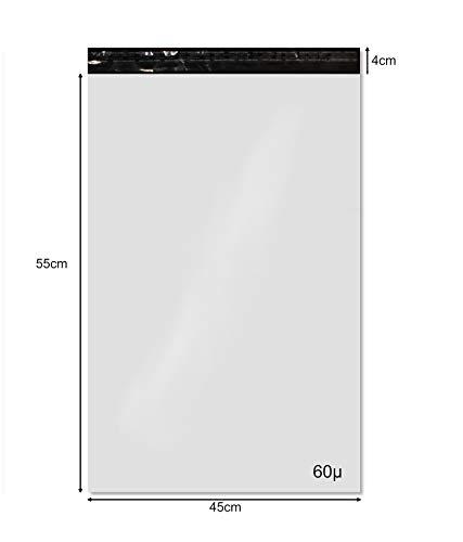 10 opaken weißen Plastikumschläge 450 x 550 mm, unverletzlich Mailer und wasserdicht