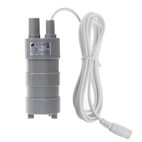 VIcoo 12V 1,2A DC Micro Dompelmotor Waterpomp 12L / min 600L / H 5M 5,5x2,1 vrouwelijk