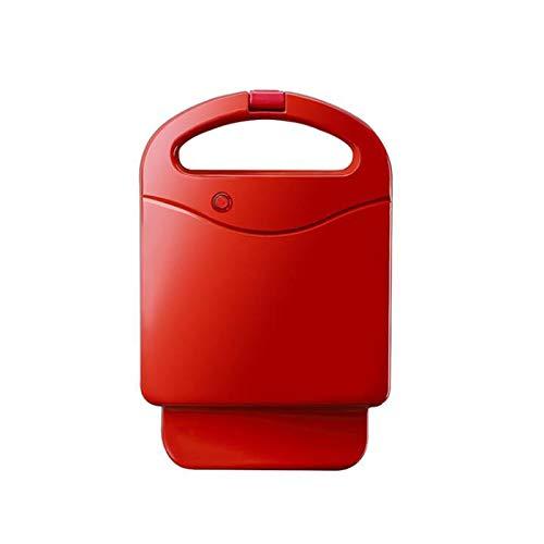 Brotmaschine 650W Elektrischer Sandwichmaker Frühstücksmaschine Haushalt 200V Eierkuchenofen Sandwichera Waffeltoster Elektrische Heizung Toast rot