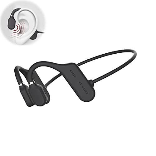 Auriculares de diadema con Bluetooth y sonido direccional para deporte, con micrófono, inalámbricos, resistentes al agua, para ciclistas, color negro