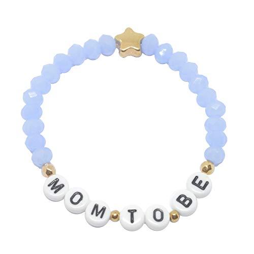 Selfmade Jewelry ® Mom To Be Armband für Werdende Mütter - handmade Geschenk zur Schwangerschaft Geburt inkl. Schmucksäckchen