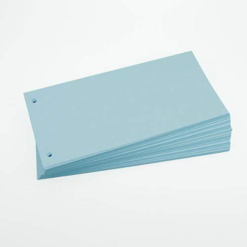 Office Line Trennstreifen, blau, 190 g, 2-fach gelocht, Format: 23,0 x 11,0 cm, 100 Stück, Art.Nr.: 770221