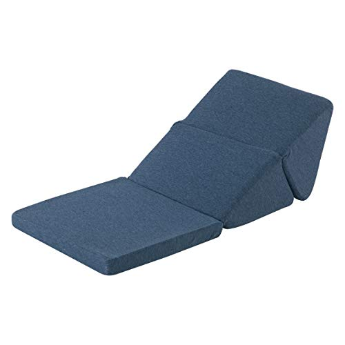 ぼん家具 テレビ枕 折りたたみ 三角クッション スマホクッション 三角枕 ソファ ごろ寝クッション ウレタン ネイビー
