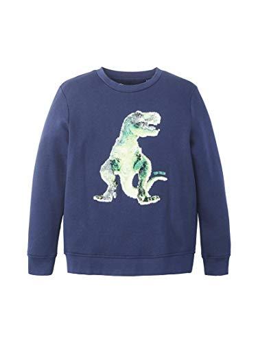 TOM TAILOR Kids Jungen Placed Print Sweatshirt, Blau (Dress Blue 3043), 116 (Herstellergröße: 116/122)