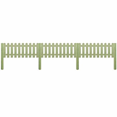 Zora Walter Valla con postes de madera de pino Impermeabilizada 5,1m 110CM...