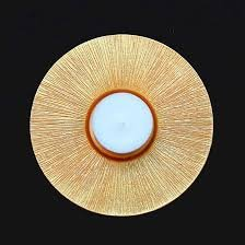 ASA 1460425 Teelichthalter - Gold Ø 12,5 Höhe 3 cm