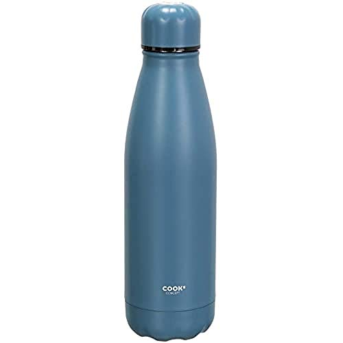 Cook Concept Bottiglia da Viaggio, Acciaio Inox, Blu
