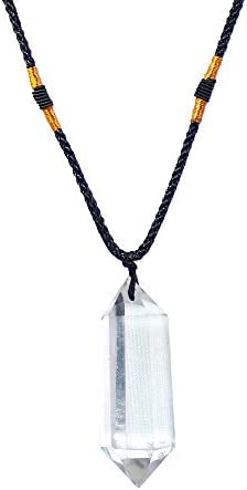 Runyangshi Clear Quartz Healing Crystal Pendants Double Pointed Natural Crystal Quartz Necklace product image