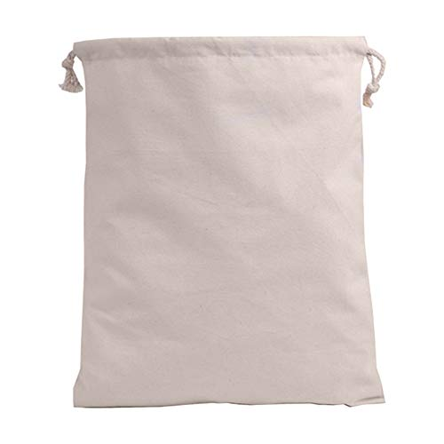 Muskmelon Set of 3 Size Cotton Breathable Dust Bags for Handbags Drawstring Storage Pouch Multi-Functional Bag (Beige) 30 Pack