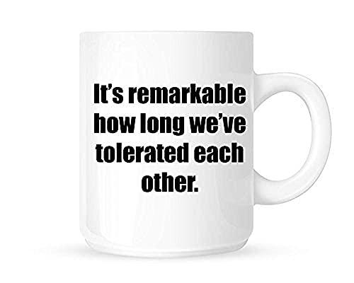 Jupsero Hoe lang zijn we geweest met elkaars leuke nieuwigheid thee/koffiekop/kopje geweldig cadeau