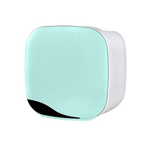 JJZXD Tenedor de Papel higiénico montado en la Pared Caja de Tejido Impermeable Papel higiénico Caja de Papel Roll Tubo de Papel (Color : B)