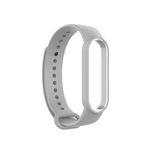 Lespar Bracelet pour Xiaomi Mi Band 5, Bracelet de Remplacement en Silicone pour Bracelet Xiaomi Mi Band