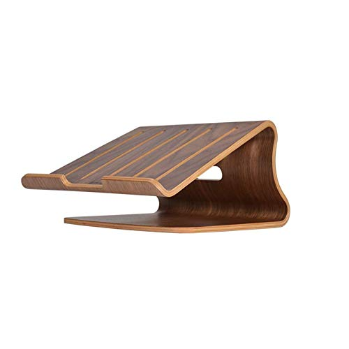 CHENNA Laptop Stand Wood,Notebook Radiator Stand,Wooden Cooling Computer Holder,Suitable for Most laptops, Lazy base radiator