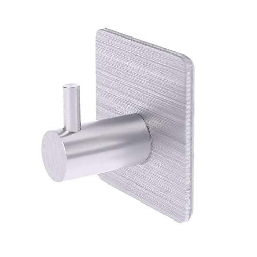 UKKD Gancho pegajoso 3Pc Cocina De Aluminio Gancho De Aluminio Autoadhesivo Puerta De Pared Gancho De Gancho De Almacenamiento Multifuncional