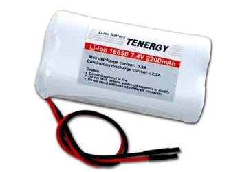 Tenergy 7.4V Li-ion 18650 2200mAh Rechargeable Battery Module with PCB