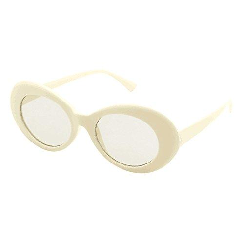 Battnot Sonnenbrille für Damen Herren, Unisex Vintage Mode Rapper Oval Shades Rahmen Anti-UV Gläser Sonnenbrillen Schutzbrillen Männer Frauen Retro Billig Sunglasses Women Outdoor Eyewear