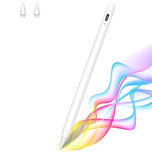MATEPROX Stylus Penna per iPad, Punta Ultra Penna Touch Compatibile con iPad(6a 7a Gen),iPad PRO 2018 (11 Pollici), iPad PRO 2018(3a Gen 12.9 Pollici),iPad Air(3a Gen),iPad Mini(5a Gen)-Bianca