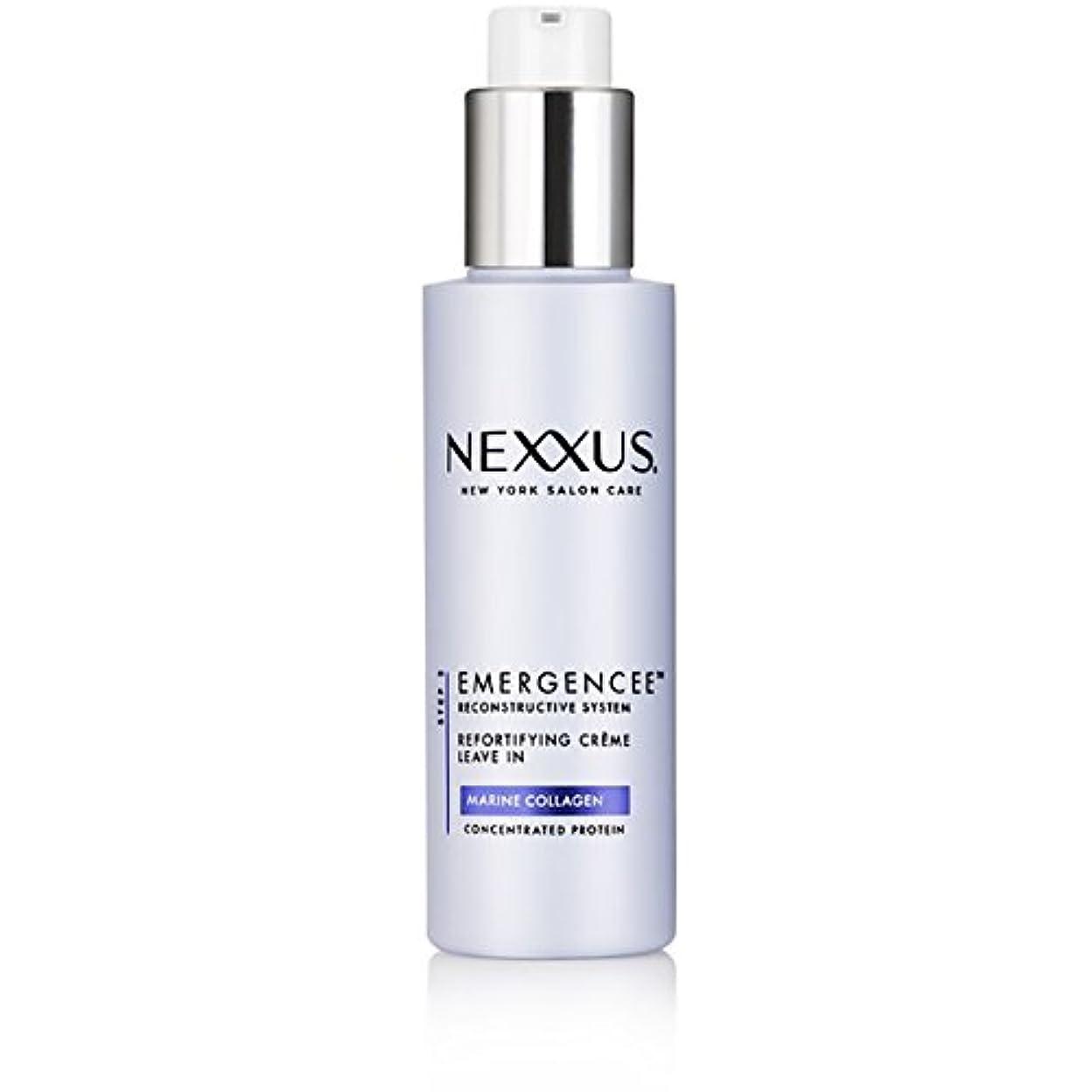 靄だらしないステープルNexxus Emergenceeはダメージを受けた髪のためにクリーム状にしておきます、150 ml