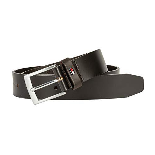 Tommy Hilfiger Adan Leather 3.5 Cinturón, Dark Tan, 80 para Hombre