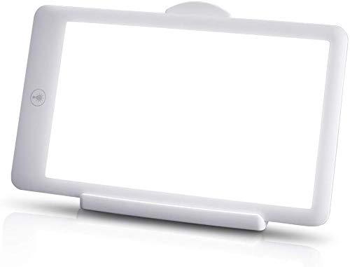 Lichttherapielampe, UV-frei 3.000-32.000 Lux Vollspektrum-Tageslicht Tragbares Happy Light mit 3 Helligkeitsstufen, One-Touch-Steuerung, faltbare Standhalterung