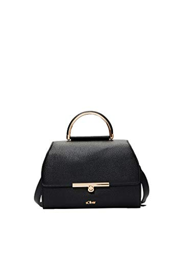 s.Oliver (Bags 39.912.94.2010 Borsa a tracolla da donna, nero (grigio/nero), 12 x 18,5 x 26 cm