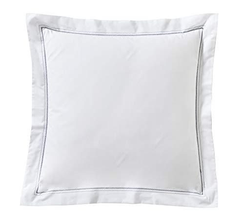 Blanc des Vosges Histoire Marine taie 65 x 65 cm - Percale 100% Coton 80fils/cm²