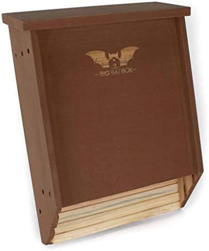 BIGBATBOX Bat Houses for Outdoors Proven Bat Box Design Premium 2 Chamber Cedar Bat House Enjoy product image