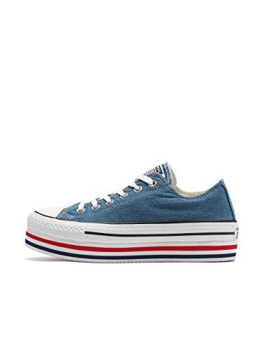 CONVERSE CTAS Platform Layer Zapatos Deportivos Femme Azul 563973C