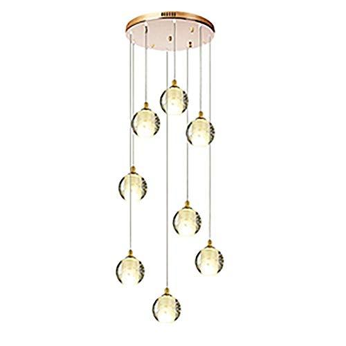 MAZ Moderna Araña de Gotas de Lluvia de Cristal K9, Iluminación de Lámpara de Techo Lámpara de Techo Lámpara Colgante para Comedor para Comedor Cuarto de Baño Sala de Estar,Arreglo de Oro Maldito,8