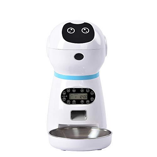 XYBB Automatische Huisdier Feeder Automatische Hond Kat Feeder Voedsel Hond Kat Drinkkom Voice Opname Lcd Scherm Droge Voedsel Bowls, 323*186*355mm, Uk