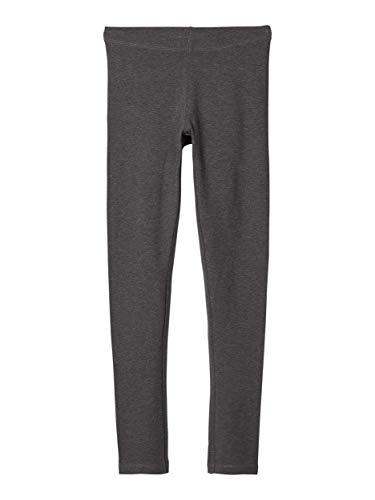 NAME IT Nitvivian Legging Nmt Noos Pantalones, Gris (Dark Grey Melange), 164 para Niñas
