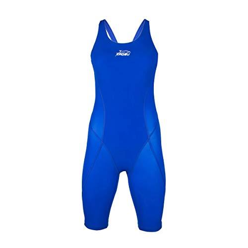 ZAOSU Wettkampf-Schwimmanzug Z-Speed für Damen & Mädchen | Premium Badeanzug mit hoher Kompression für schnelle Schwimmzeiten, Farbe:blau, Größe:38