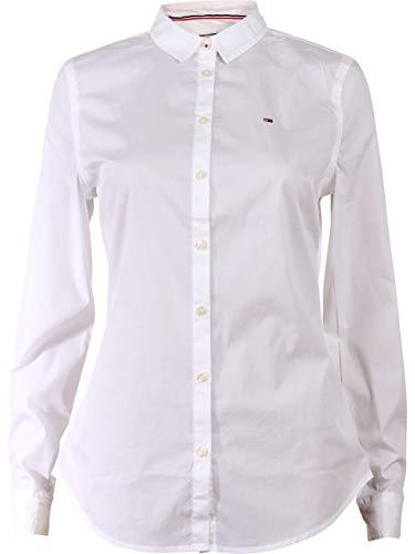 Tommy Hilfiger Original Stretch Blusa, Blanco (Classic White 100), X-Small para Mujer