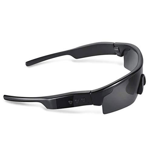 SMSOM Bluetooth Smart Audio Sunglasses con audífonos inalámbricos de la liberación de la liberación, Escuchar música y Llamadas telefónicas, Resistencia al Agua, protección de Lentes UV Completa para