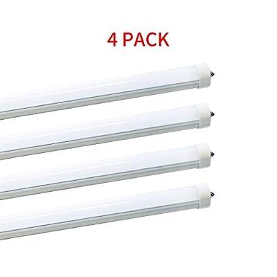 "40W 96"" T12 8ft LED Tube Single Pin,F96T12 8' LED Fluorescent Tube Replacement,120V 277V Input, 5500K Daylight White,4500N Neutral White,4000LM Frost Lens Super Bright"