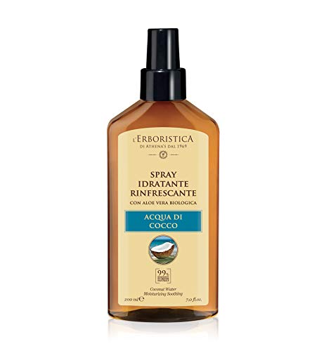 Acqua Naturale di Cocco e Aloe vera - Spray idratante 200 ml